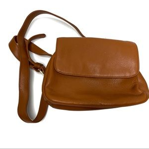 Stone Mountain Brown Pebbled Leather Crossbody